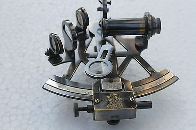 "4""Maritime Brass Sextant Nautical Antique Marine Sextant Collectible Astrolabe."