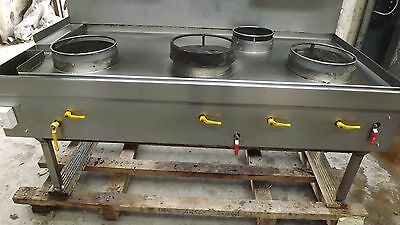 Commercial All Stainless Steel 4 Burner Chinese Cooker With Turbo Burner