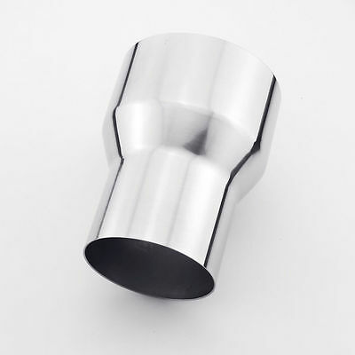 """3"""" OD 76 mm to 4"""" OD 102 mm exhaust reducer adapter pipe 304 stainless steel"""