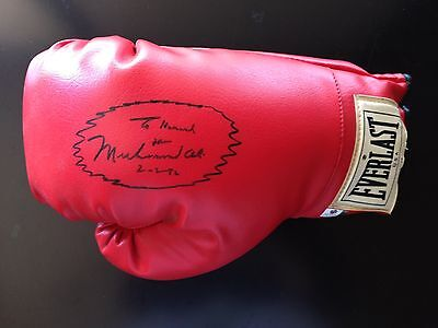 Muhammad Ali Signed  Glove - Cert. By Global Authentics Usa