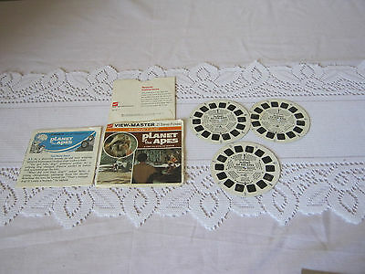 View Master Planet of the Apes Antique 1967 3 reels + booklet