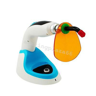 2000MW Wireless Cordless LED Dental Curing Light Lamp 10W Whitening BLUE US Ship