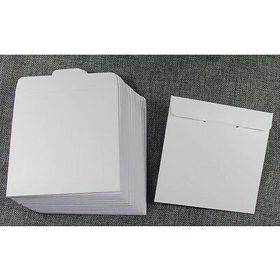 50 x White card paper sleeves for CD DVD protection packaging