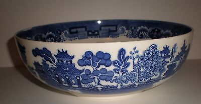 "Vintage Copeland Spode Blue And White ""willow"" 8.25"" Bowl (49))"