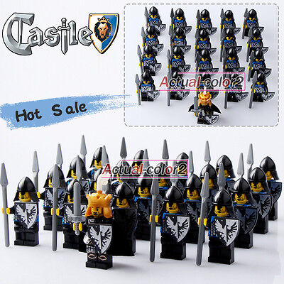 21pcs/Lot Shadow kingdom H Pikeman Medieval Castle Knights Minifigures