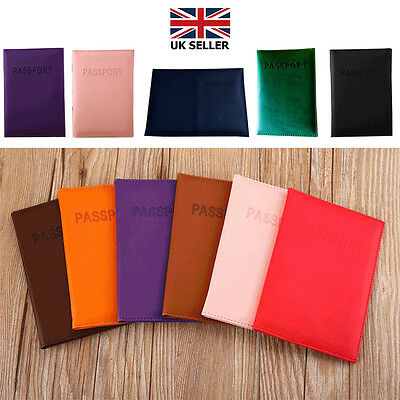 Passport Cover Holder Case ID Card Travel Faux Leather Protector Organiser SNO