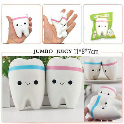 NEW 10cm Lovely Teeth Soft Squishy Phone Charms Super Slow Rising Kid Toy