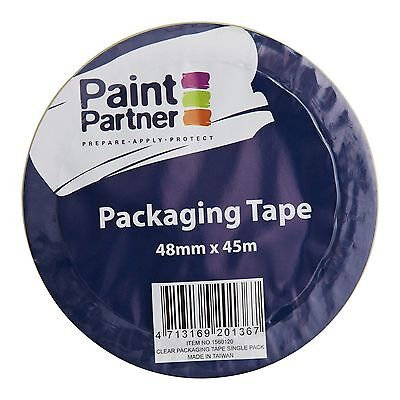 2x Paint Partner PACKAGING TAPE 48mmx45m Long Lasting Adhesion – Clear Or Brown