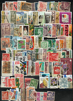 Whole world stamps selection kiloware, 100 different stamps.