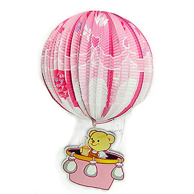 3 Pcs Cubs hot air balloon Paper Lantern Round Handcrafted Festival Decorations