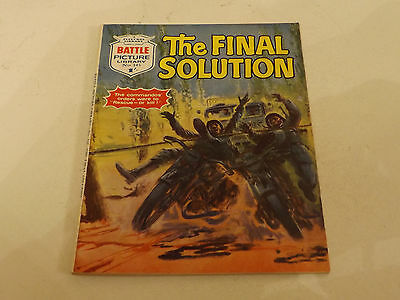 BATTLE PICTURE LIBRARY NO 345!,dated 1968!,V GOOD FOR AGE,RARE ISSUE,49 yrs old.