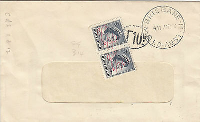 K 1083 Brisbane 1964 taxed cover; pre decimal stamps pay 10p postage due owed