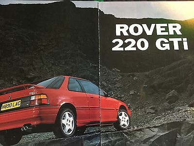 ROVER 220 GTi # ORIGINAL 1991 AUTOMOTIVE ARTICLE # 4 PAGES