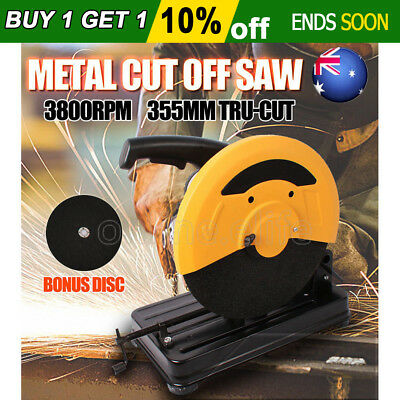 OZ 355mm Metal Cut Off Drop Saw Electric Saw Chop Demolition Industrial Cutting