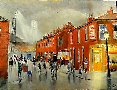 Art Original oil painting -  The Night Match  by Gary Haigh
