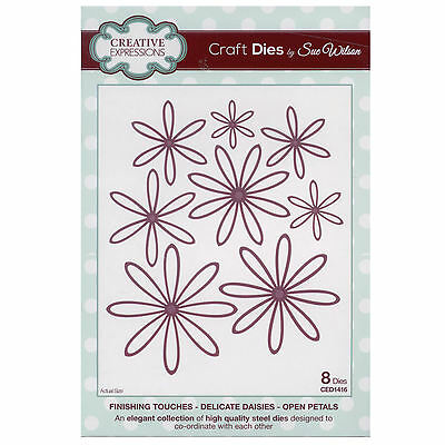 Craft Die CED1416 Sue Wilson Finishing Touches - Delicate Daisies - Open Petals