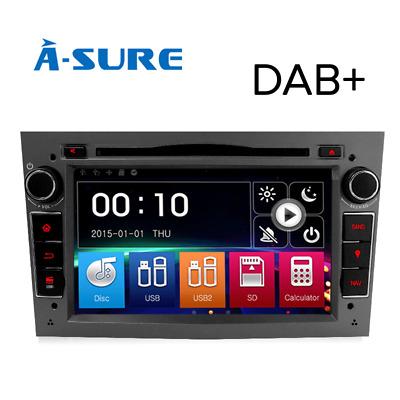 "Black 7"" Android 5.1 Car Dvd Player Gps Sat Nav Dab+ Opel Vauxhall Astra H Corsa"