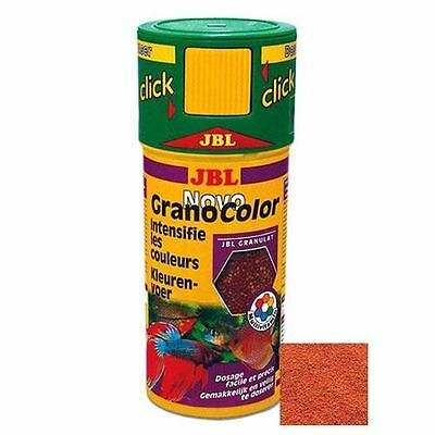 JBL NovoGranoColor (Novo Grano Color) Click Fish Food 250ml Enhancer Granules