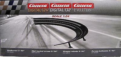 Carrera Steilkurve Radius 3/30° für Evolution/Digital 124/132 -20576 NEUWARE