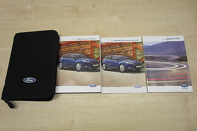 FORD FOCUS FACELIFT 2014-2016 Owners Manual Handbook & SERVICE BOOK TWO STAMPS