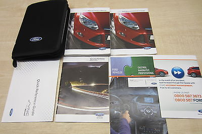 FORD FOCUS 2011-2014 LOADED Owners Manual Handbook & SERVICE BOOK w/ Wallet Pack