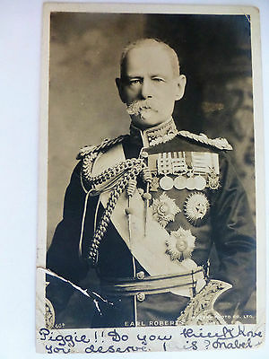 Earl Roberts - Old Military Comander Postcard