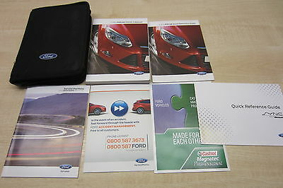 FORD FOCUS 2011-2014 Owners Manual Handbook & SERVICE BOOK with ONLY ONE STAMP!!
