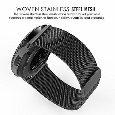 Gear S3 Watch Band Stainless Steel Bracelet Classic Frontier Strap 46mm Black