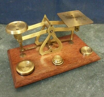 Vintage Postage Balance Scales and Weights MADE IN ENGLAND