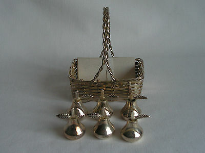 Silver Plated Table Name Place Menu Card Settings In Form Of Pears