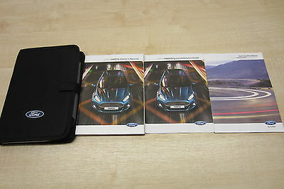 FORD FIESTA 2013-2016 Owners Manual Handbook & SERVICE BOOK 2 STAMPS Wallet Pack