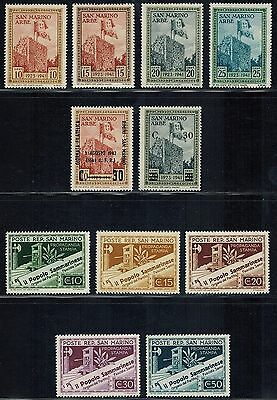 SAN MARINO Sc# 190 // 234 (30)  MH includes Overprints (1942-1943) Postage