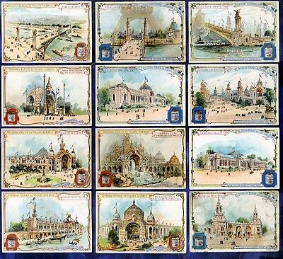 SERIE COMPLETE 12 chromos liebig Set S624 EXPO UNIVERSELLE Universal Exhibition