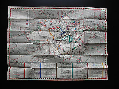 London Transport Tube & Bus special Coronation Map 1937