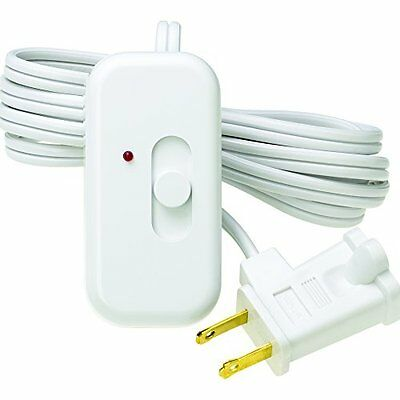 """Lamp Dimmer Switch 6"""" Cord Light Lighting Plug In Table Floor Easy Turn On/Off"""