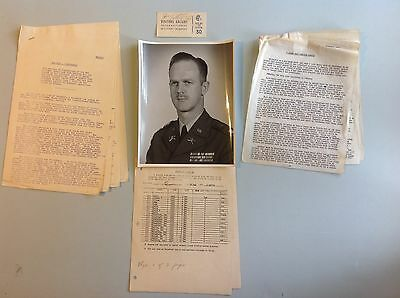 EXTREMELY RARE Nuremberg Trials WWII OSS Officer group Gallery Pass Report Etc