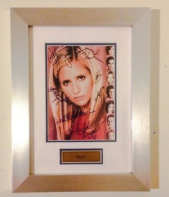 Buffy The Vampire Slayer Signed Cast Photo framed - FREE SHIPPING