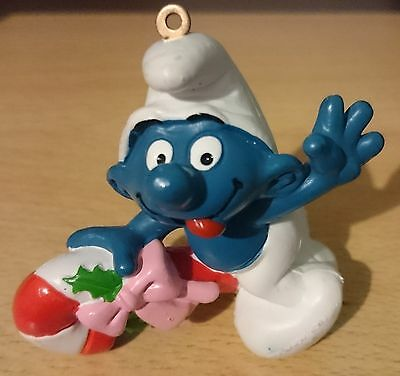 Puffi Smurfs Christmas Santa Clause Candy Cane for Christmas tree decorations