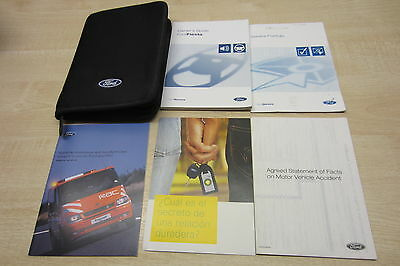 FORD FIESTA 2001-2005 Owners Manual Handbook & SERVICE BOOK with Wallet Pack