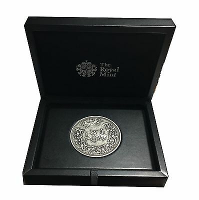 The Pistrucci Silver Waterloo Medal with Certificate and All Original Boxes