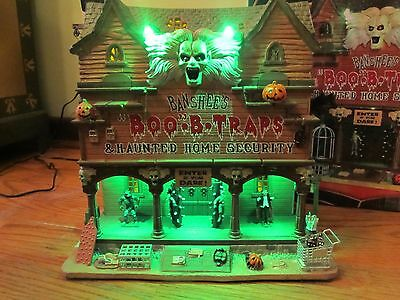 Lemax Spooky Town Banshee's Boo B Trasps & Haunted Security
