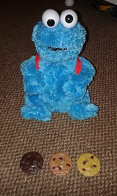 Seasame Street Cookie Monster Count and Crunch toy Rare Collectable Inc 3 Cookie