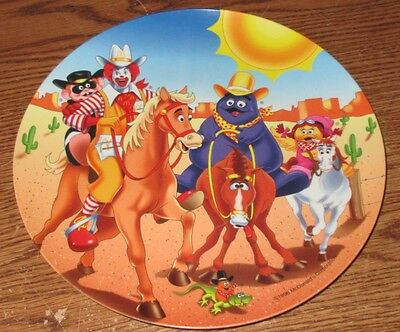 "McDonalds Plate 1998 9 1/2"" Plastic Collector's Plate Western Horseback Used"