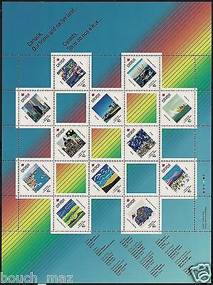 Canada Stamps —Full Pane of 12 —Canada Day, Local Landmark by Artists #1431a MNH