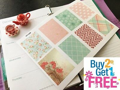 PP154B -- Pink Decoration Boxes Life Planner Stickers for Erin Condren (8pcs)