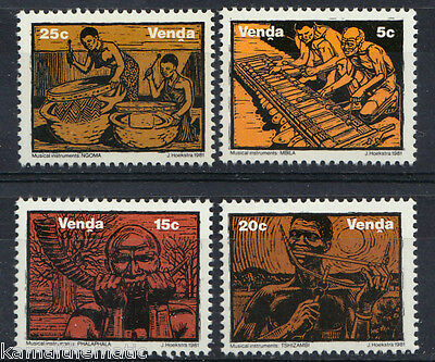 Venda 1981 MNH 4v, Ancient Traditional Musical Instruments, Music   - M39