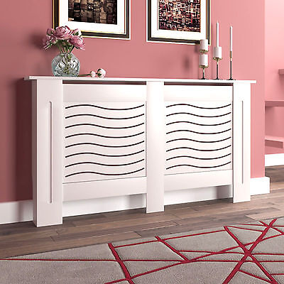 New Radiator Covers- Small Medium Large Cabinet White Painted Wood Modern
