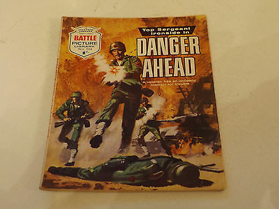 BATTLE PICTURE LIBRARY NO 344!,dated 1968!,V GOOD FOR AGE,RARE ISSUE,48 yrs old.