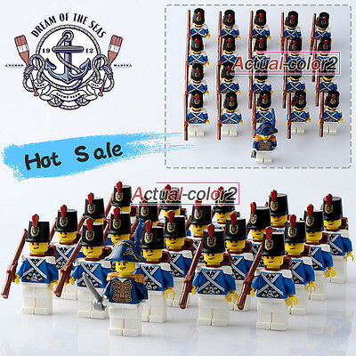 21PCS/Lot(991) The Blue Royal navy soldiers Pirates of the Caribbean Minifigures