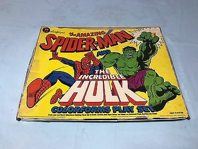 Amazing Spider-Man And Incredible Hulk Vintage Colorforms Set